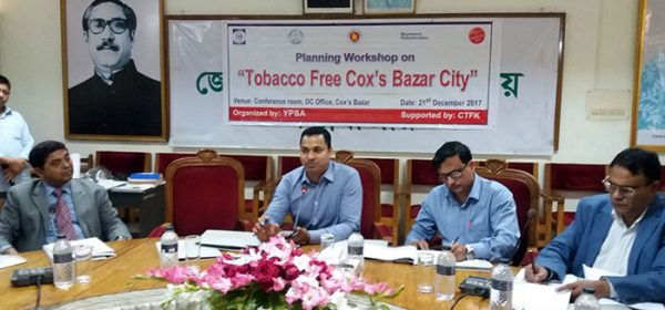The workshop was organized by YPSA jointly with DC office and Cox's Bazar Municipality