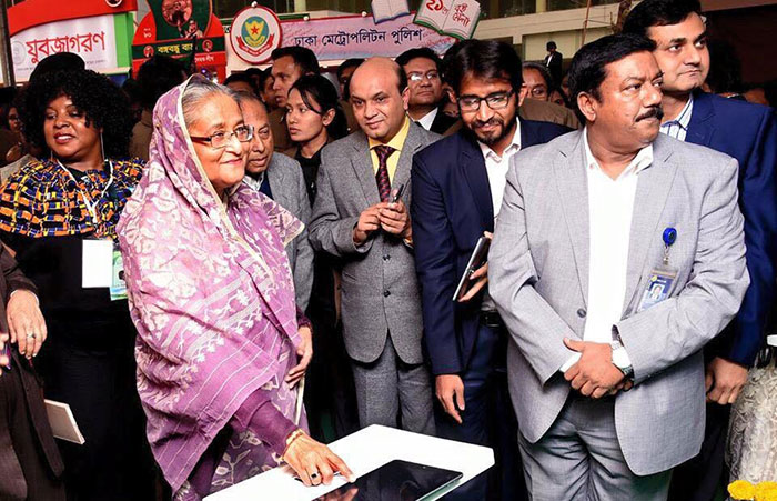 Honorable Prime Minister Sheikh Hasina launching Accessible Dictionary