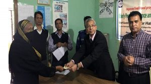 Providing Elderly people's allowance