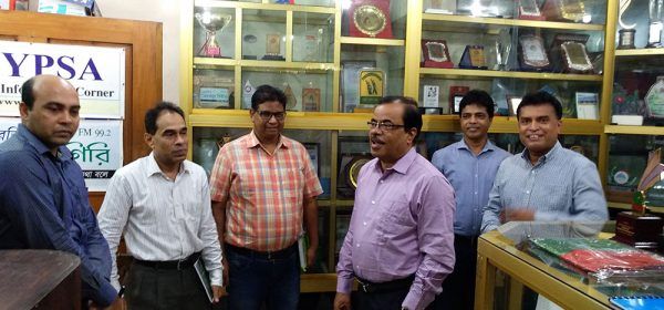 Executive Vice Chairman of Microcredit Regulatory Authority visits YPSA Information Center at Chittagong