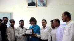 YPSA Givs a token of appreciation to Nicola Dahrendorf, Team Leader of PROKAS