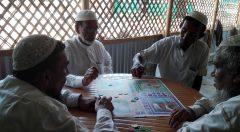 Older people playing game