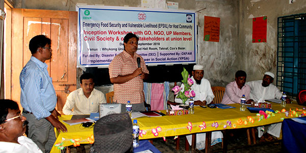 Inception Workshop of Sustainable Livelihood Project of YPSA