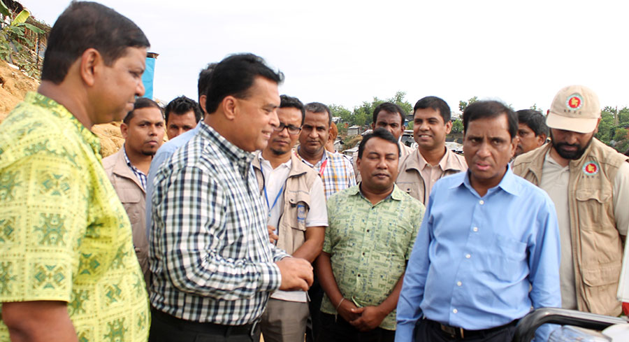 Refugee relief and Rehabilitation Commissioner visits YPSA's Rohingya Humanitarian Response Program
