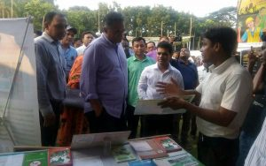 Stall visited by Secretary of Power, Energy & Mineral Resources (MPEMR)