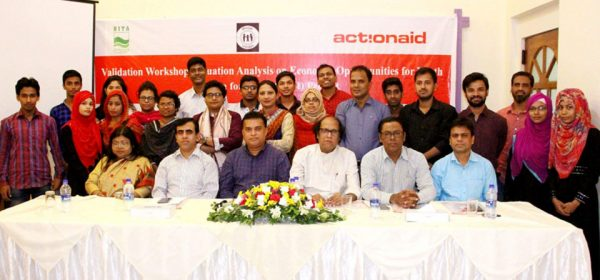 """validation workshop titled """"Situation Analysis on Economic Opportunities for Youth at Chittagong City Corporation"""""""