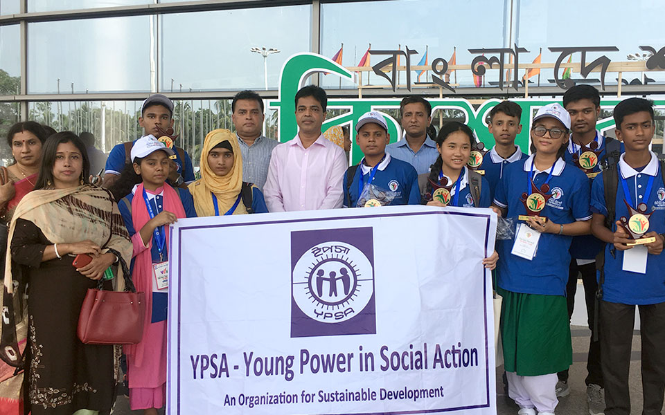 group photo of YPSA team