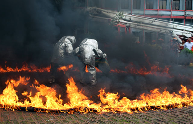 emergency mock drill (fire accident )