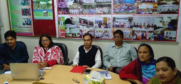 YPSA's Social Development Department arranged a monthly coordination meeting
