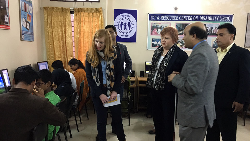 Australian High Commissioner interacted with the visually impaired students at the IRCD