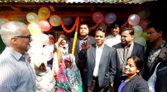 Inauguration of a T-shelter