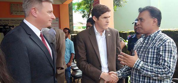 U.S. Ambassador to Bangladesh Earl R. Miller and Arifur Rahnan