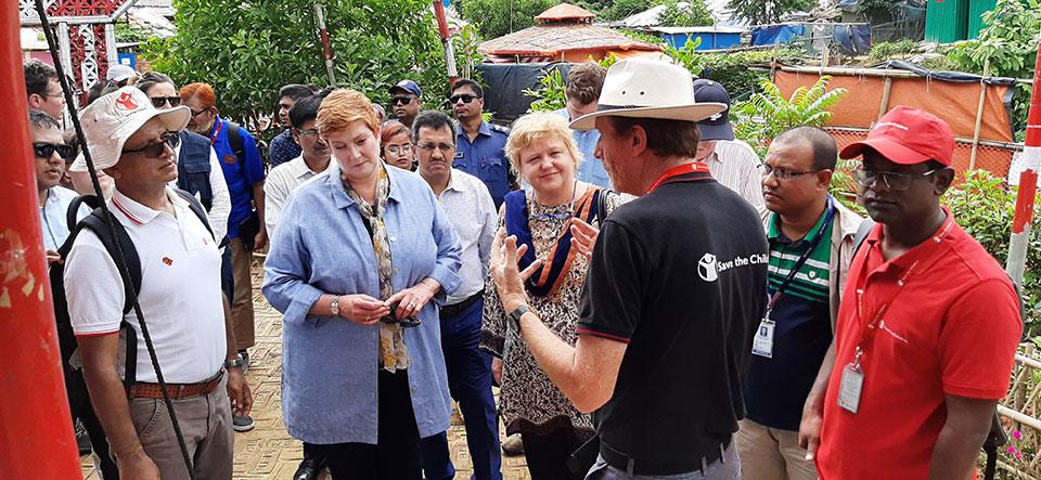 Australian Foreign Minister visit YPSA in Coxs Bazar