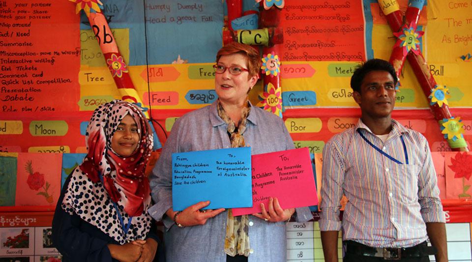 Australian Foreign Minister visit YPSA in Coxs Bazar 2