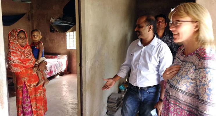 Visit to climate displaced family