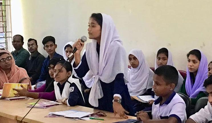 Speech by a girl