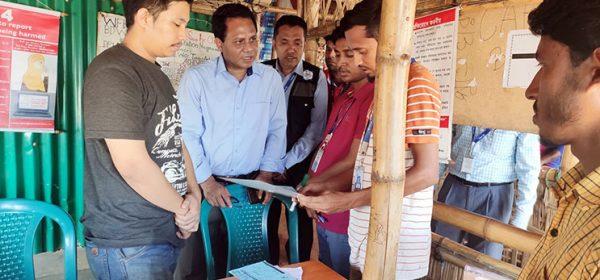 DG visit YPSA activities at the camp