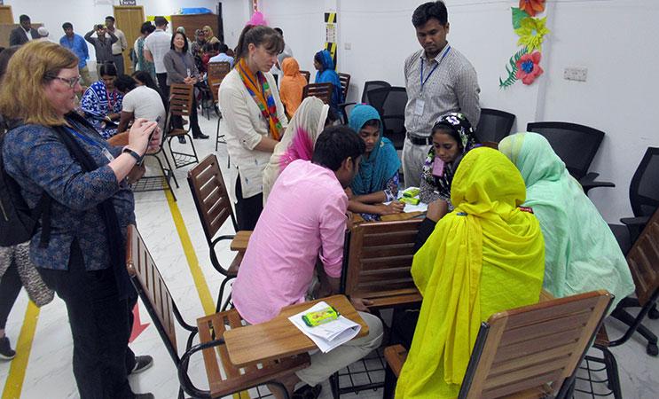 Bill and Melinda Gates Foundation team observes group work