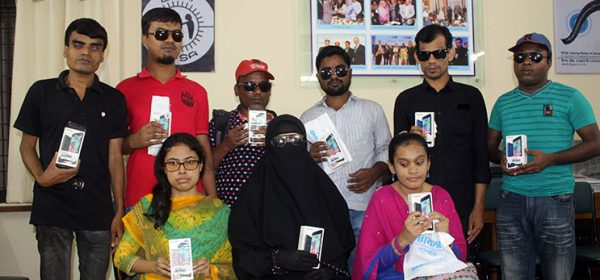 Group photo visually impaired students