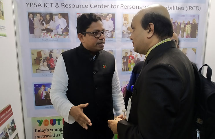 Zunaid Ahmed Palak, State minister for ICT talk to Vashkar