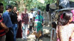 Heather visited beneficiaries houses of Banskhali