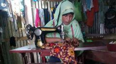 Jannatul Nahar of Pukuria Union, Banskhali busy her activities with her new swing machine