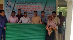 UNO of Kutubdia distribution roof sheet materials to Beneficiaries