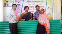 Upazila Nirbahi Officer of Pekua inaugurated the roof sheet distribution to beneficiary