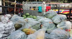 Vegetables in a truck
