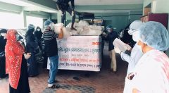 Aid distribution by youth