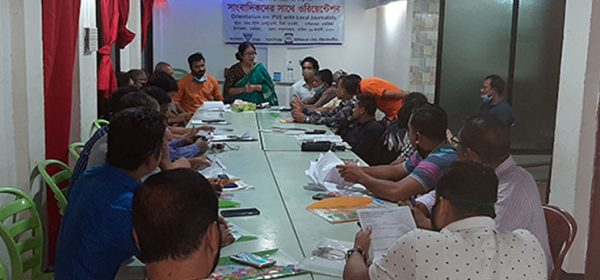 Coordination meeting with journalists