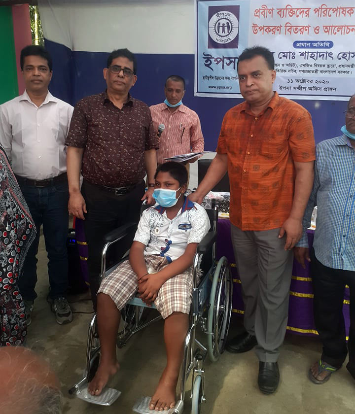 Wheel chair distribution by YPSA