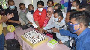 Cake cutting at Ukhiya Office