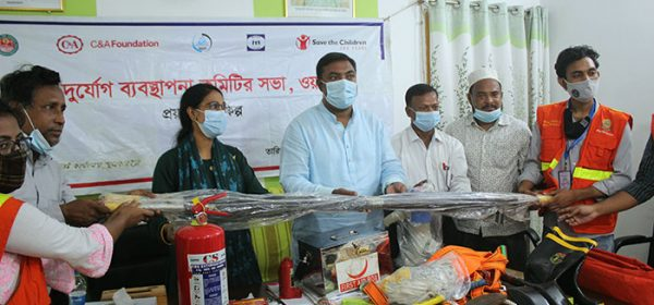 Safety Equipment Distribution inaugurated by the Ward Counselor