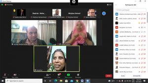 Screenshot of virtual meeting 3