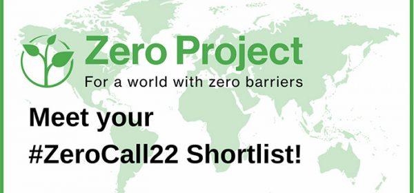 Zero Project logo, slogan and shortlist declaration