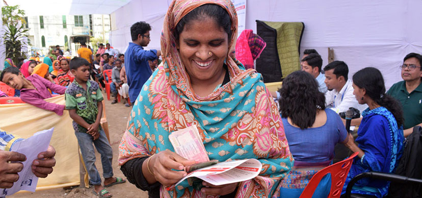 Woman beneficiary