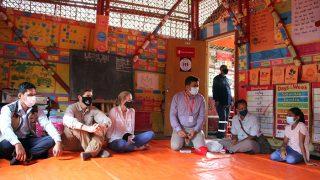 The USA Ambassador to Bangladesh Earl R. Miller visits YPSA led Learning Center